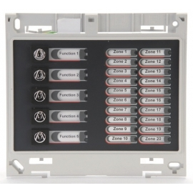 ZFP 20 Zone Indicator Module c/w Name Slots & 5 Switches