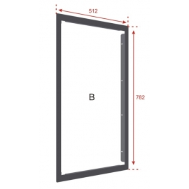 Flush Mounting Bezel for ZFP Medium Cabinet