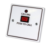 Standard Call Push with Protruding Button, No Reset, No Remote