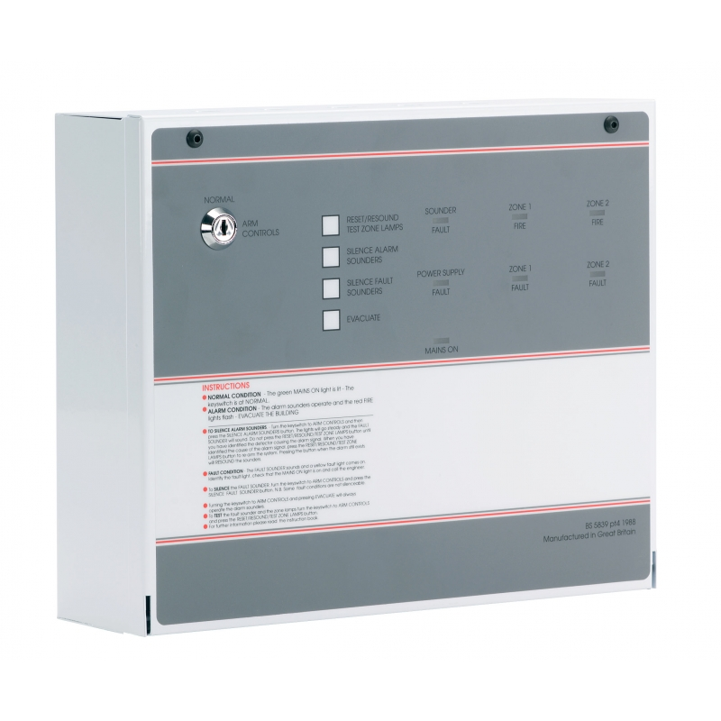 Ff382 2 Fp 2 Zone Conventional Fire Alarm Panel