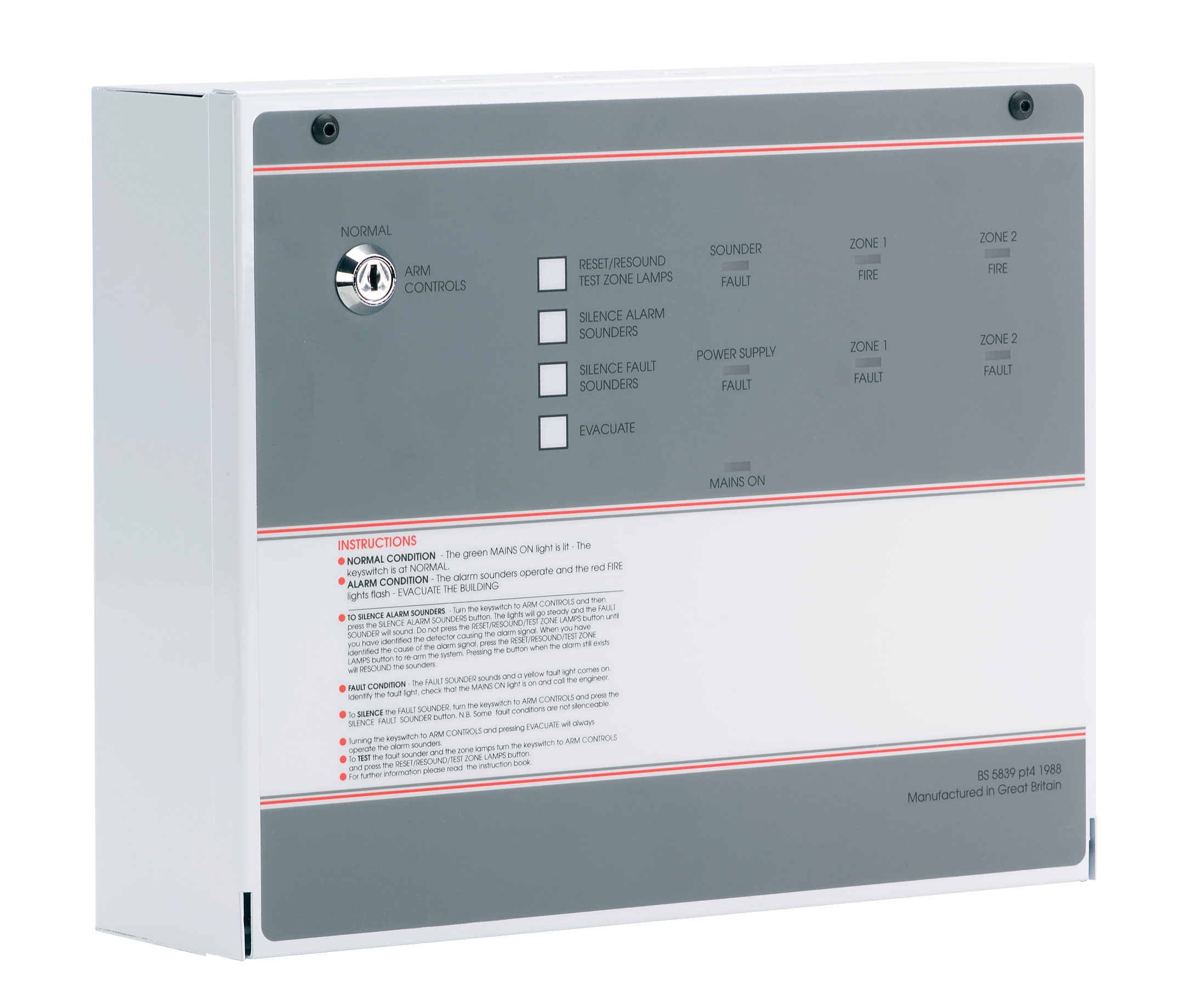 FF382-2 FP 2 Zone Conventional Fire Alarm Panel