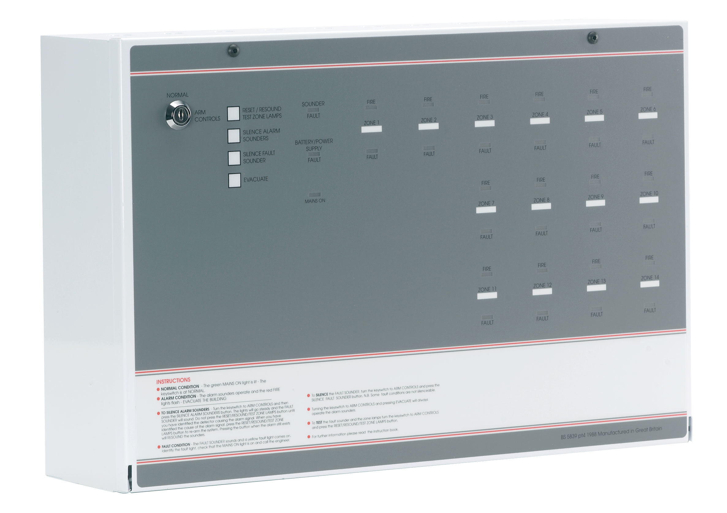 Ff394 2 Fp 14 Zone Conventional Fire Alarm Panel