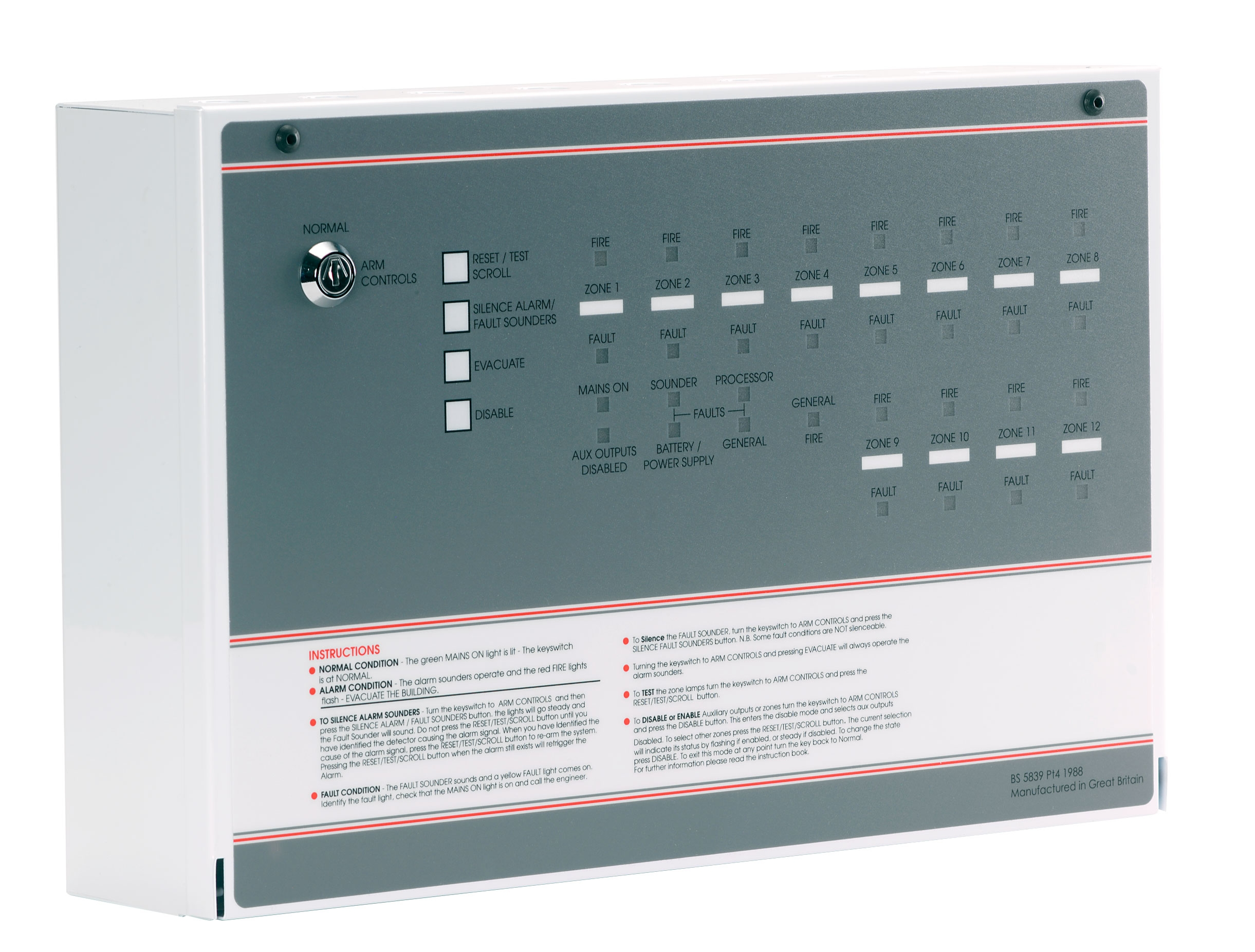 Ff504 Mfp 4 Zone Conventional Fire Alarm Panel Expandable