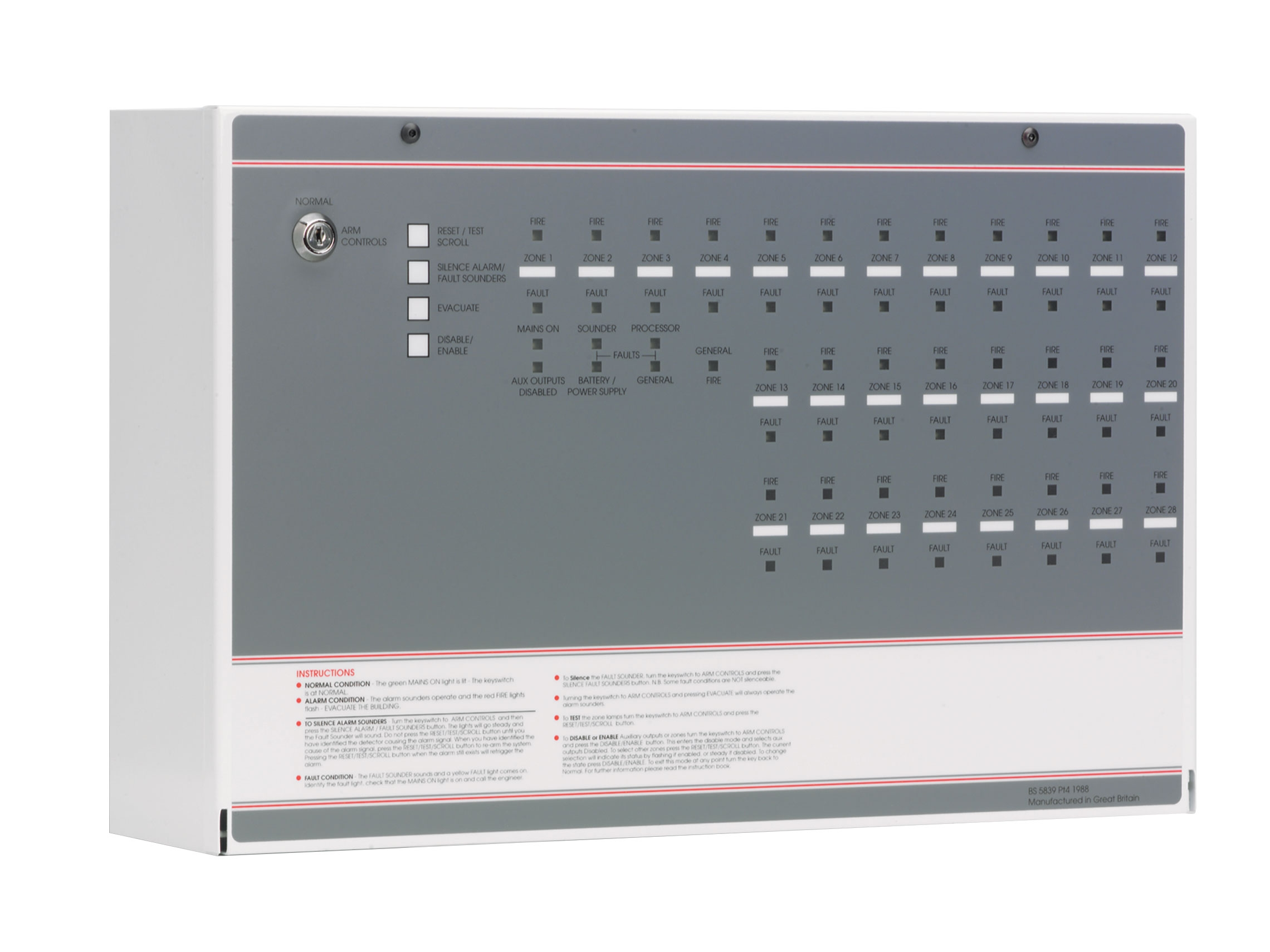 Ff Zone Conventional Fire Panel