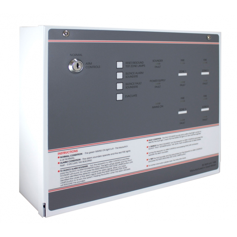 Ff384 3 Fp 4 Zone Economy Conventional Fire Alarm Panel