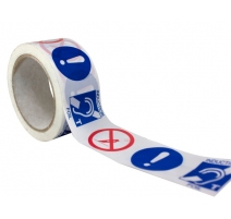 "50m printed ""INDUCTION LOOP"" foil tape"