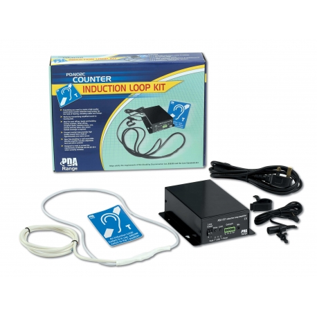 PDA102C 1.2m2 Free-standing Counter Induction Loop System