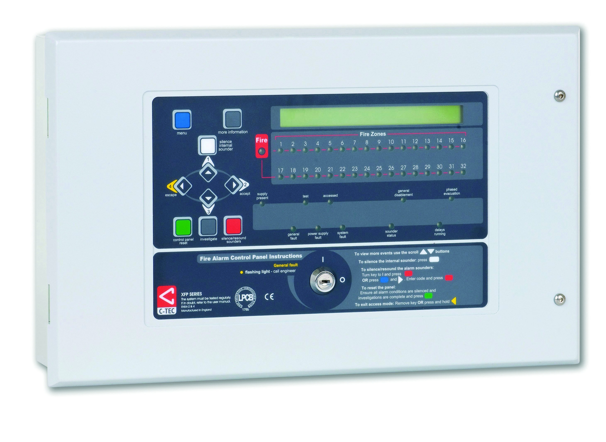 Xfp501 H Xfp 1 Loop 32 Zone Addressable Fire Panel