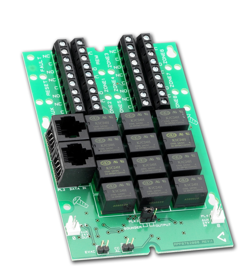 Cfp764 Relay Output Card 8 Per Zone Relays The 8way Board