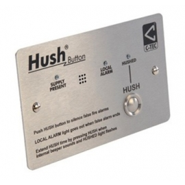 BS 5839-6 Hush Button, Stainless Steel (XP95/Discovery protocol)