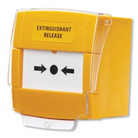 Yellow Extinguishant Release Call Point, Surface
