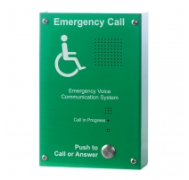 EVC303GS Green Type B Disabled Refuge Outstation, Surface