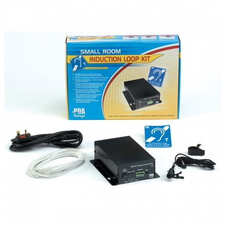 PDA102L 50m2 Small Room Induction Loop System (tie/desk mic version).