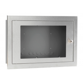 Glazed Stainless Steel Enclosure, shallow
