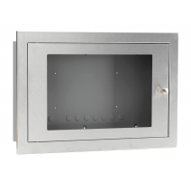 Empty BF359/3S Glazed Stainless Steel Enclosure, Shallow