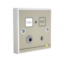 Quantec Addressable Infrared Call Point, Button Reset c/w Sounder & Remote Socket