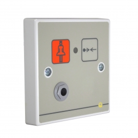 Quantec Addressable Call Point, Button Reset c/w Iconised Label & Remote Socket