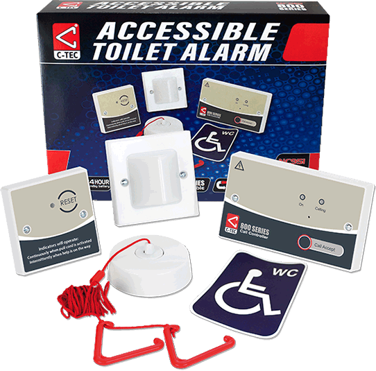 Accessible toilet alarm kit